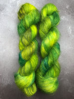 Oddball #182 Green & Yellow Kid Mohair Silk Lace