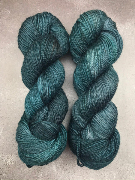 Oddball #155 Teal Corriedale Sock