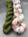 Speckles and Green Merino Twist Sock 70g Set