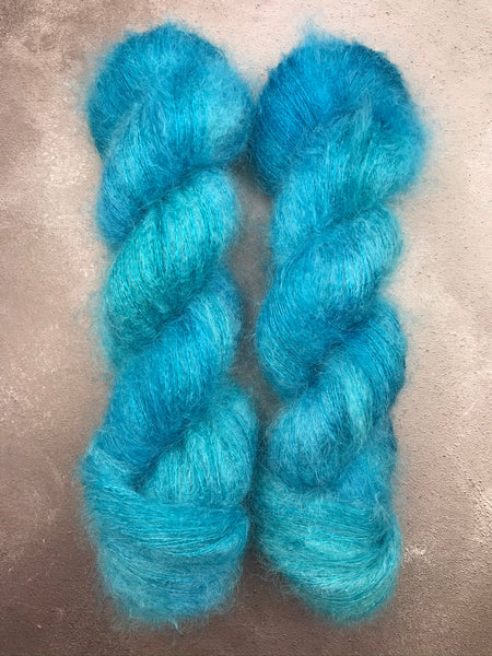 Oddball #142 Turquoise Kid Mohair Silk Lace