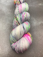 Oddball #158 Neon Speckled BFL Sock