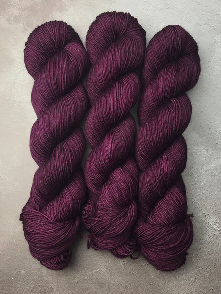 Blackcurrant Jam Merino Smooth Sock