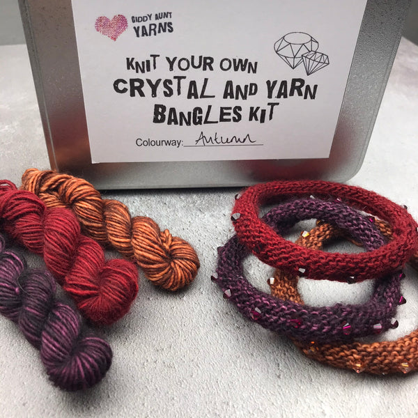 Autumn (Limited Edition) - Knit Your Own Crystal & Yarn Bangles Kit