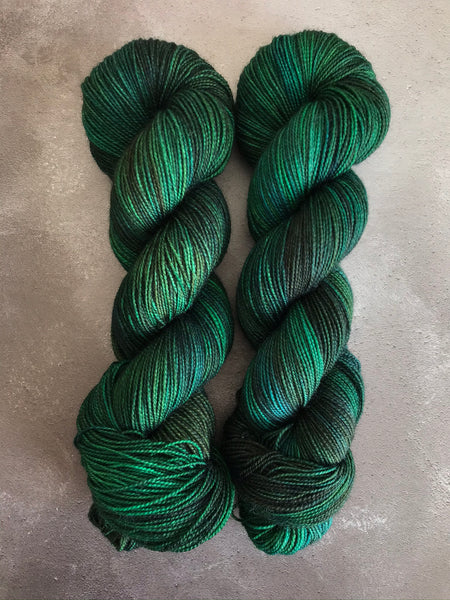 Oddball #134 Green & Teal BFL Sock