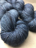Oddball #103 Dark Denim Blue Bronze Sparkle Sock