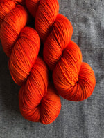 Oddball #78 Deep Orange Merino Smooth Sock