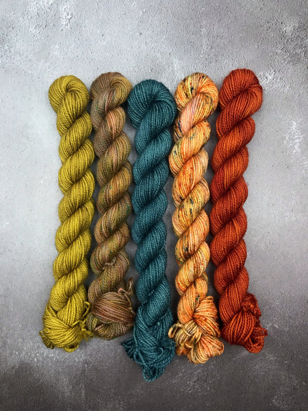 OOAK Marmalade Mix Mini Set BFL Sock