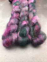 Oddball #168 Purple Pink & Green Mix Kid Mohair Silk Lace Mini