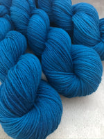 OOAK Deep Blue Highland 4Ply 100g