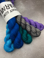 OOAK Blue Multi Mix Mini Set BFL Sock