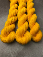 OOAK Sunshine Yellow Highland 4Ply 20g Mini