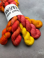 OOAK Orange Mix Merino Fingering Mini Set