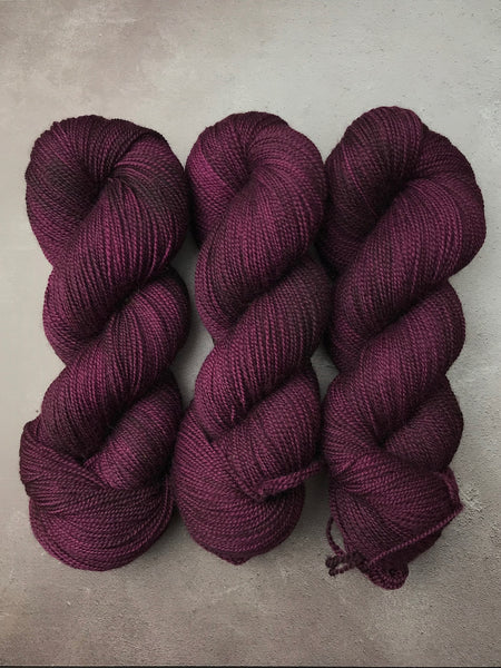 Blackcurrant Jam Corriedale Sock