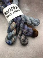 OOAK Ghost & Brown Mix Mini Set BFL Sock