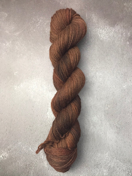 OOAK Chocolate Brown Highland 4Ply 50g