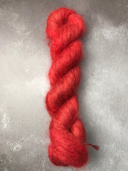 Carnelian Kid Mohair Silk Lace