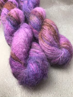 Shrinking Violet Brushed Baby Suri Silk Lace