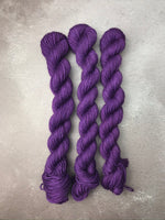 OOAK Dark Purple BFL Sock Mini
