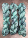 OOAK Blue Mint Highland Zebra 4Ply 100g