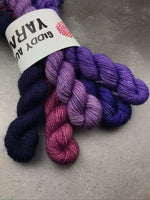OOAK Purple Mix Mini Set BFL Sock