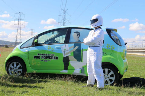 Worlds First Poo Powered Car