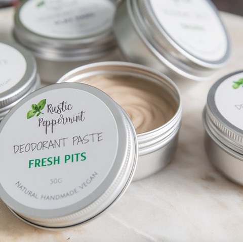 Rustic Peppermint Australia Natural Deodorant For Sensitive Armpits