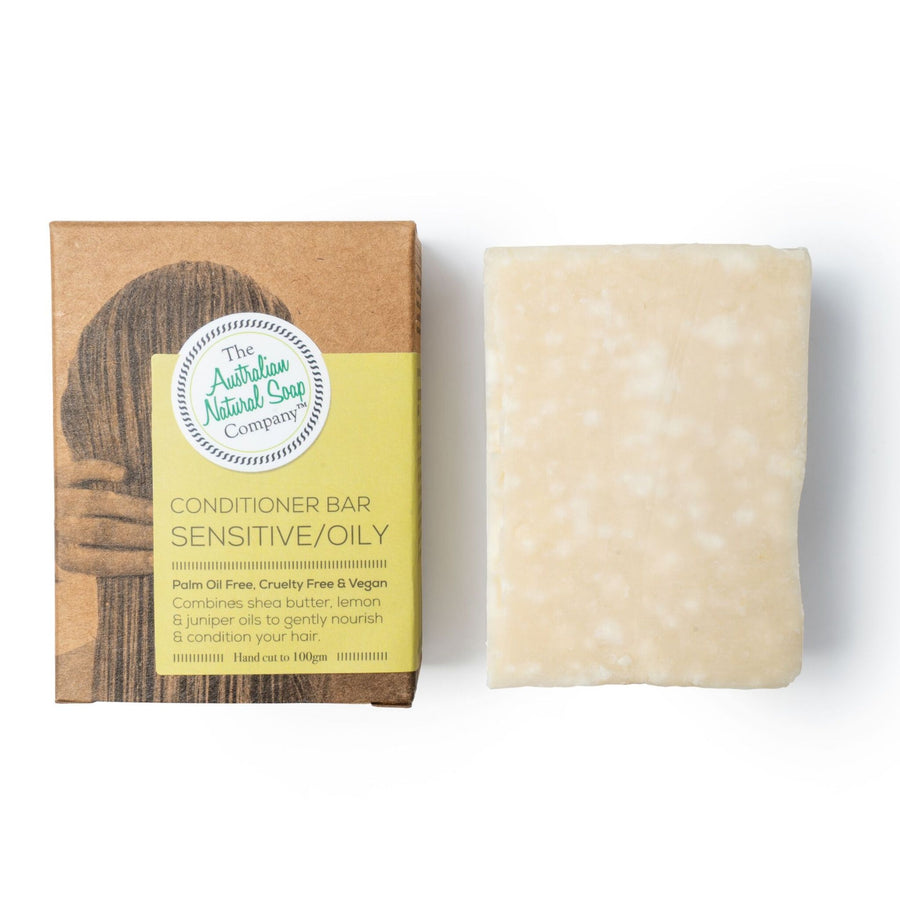 The Australian Natural Soap Company - Sensitive/ Oily Conditioner Bar (100g)