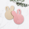 One Chew Three - Bunny Silicone Teether (Pink or Cream)