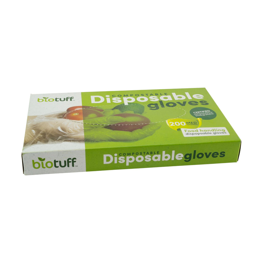 BioTuff - Compostable Disposable Gloves - Medium - (Pack of 200)