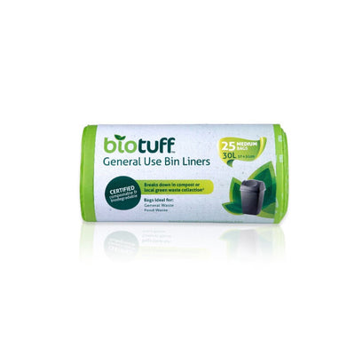 Go-For-Zero-Australia-BioTuff-Compostable-General-Use-Bin-Liners-Medium-30-Litre-25-Bags