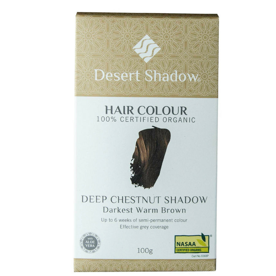Desert Shadow Organic Hair Dye - Deep Chestnut Shadow (100 g)