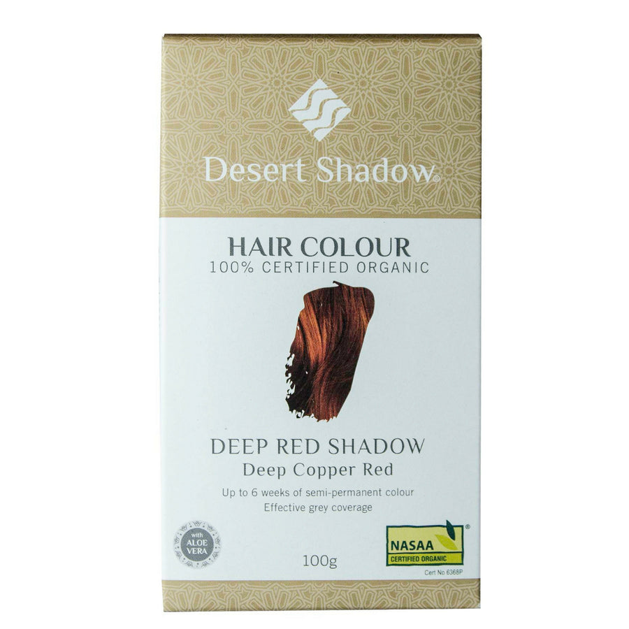 Desert Shadow Organic Hair Dye - Deep Red Shadow (100 g)