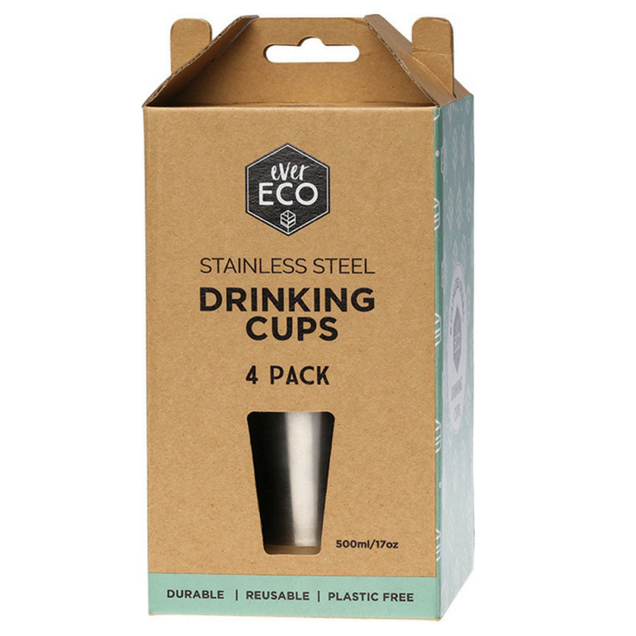 Ever Eco - Stainless Steel Drinking cups 4 x 500 ml