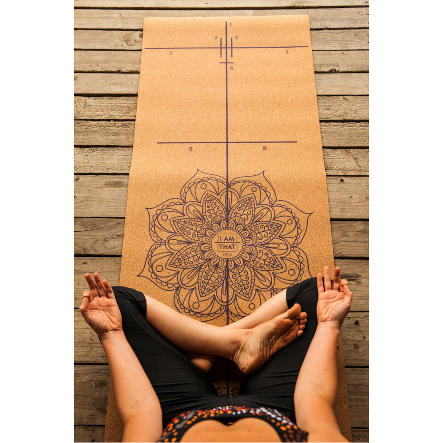 I Am That Yoga - Eco Friendly Luxury Cork Alignment Mat