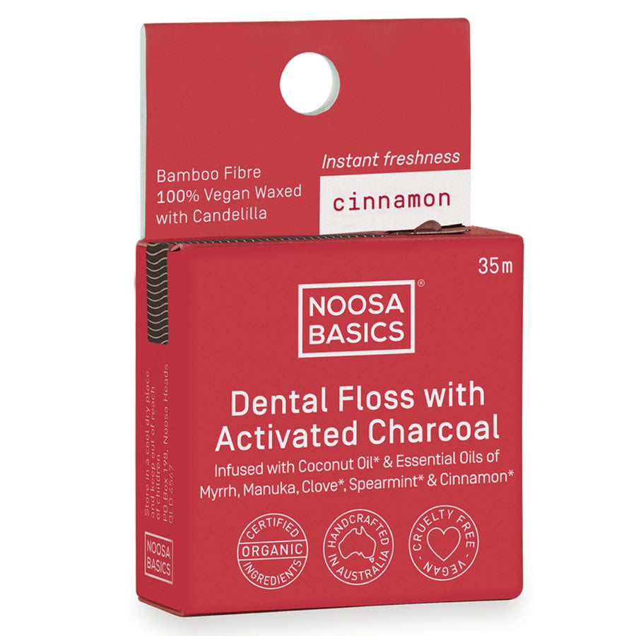 Noosa Basics - Cinnamon Dental Floss with Bamboo Charcoal (35 m)