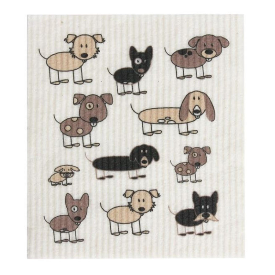 RetroKitchen - Cellulose Dishcloth (Dogs)