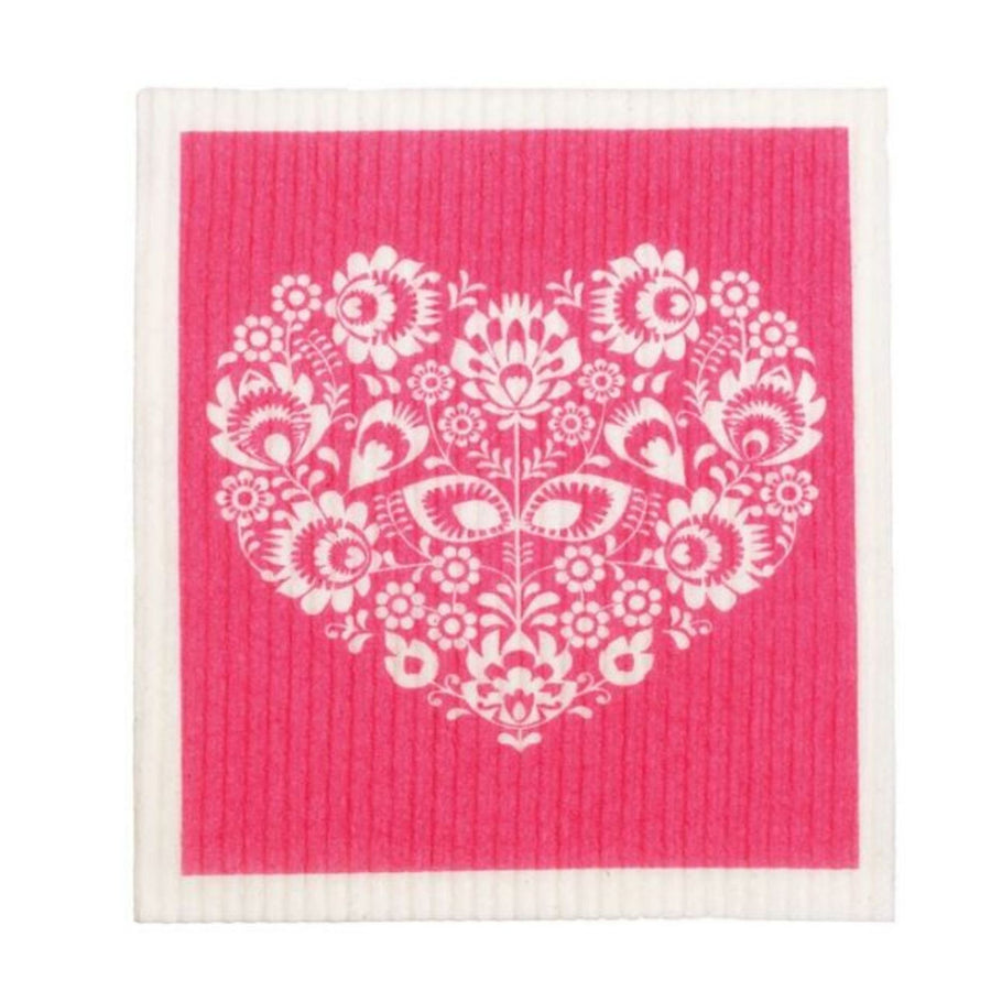 RetroKitchen - Cellulose Dishcloth (Heart)