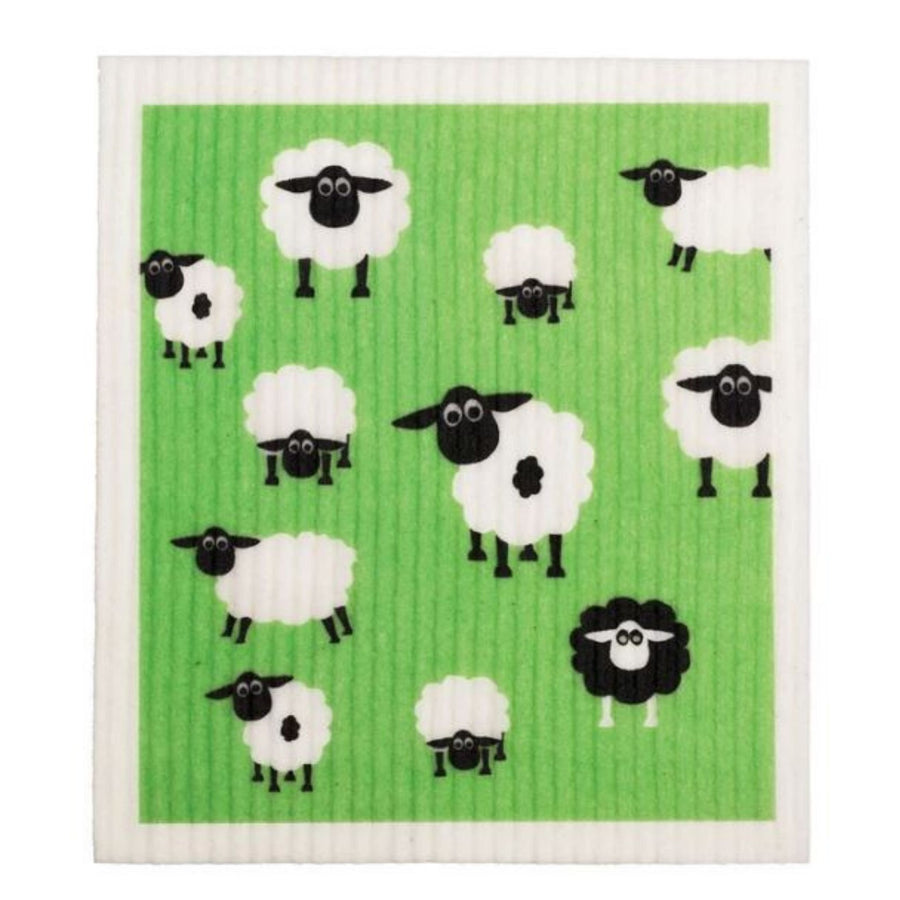 Retro Kitchen - Cellulose Dishcloth (Sheep)