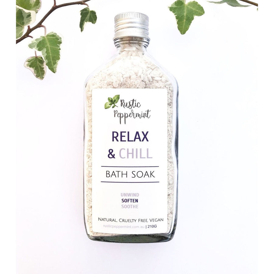 Rustic Peppermint - Relax & Chill Bath Salt (200ml)