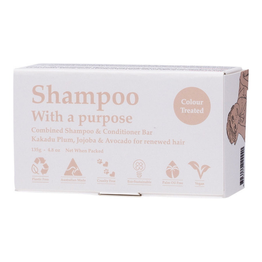 Shampoo with a Purpose – COLOUR TREATED Shampoo & Conditioner Bar (135g)