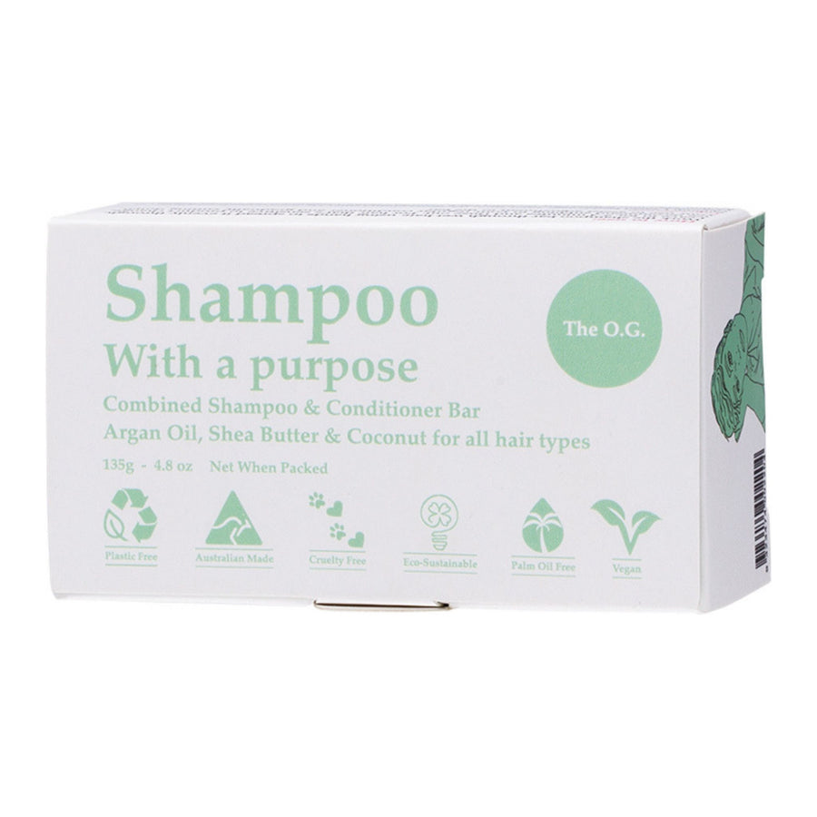 Shampoo with a Purpose – THE O.G. Shampoo & Conditioner Bar (40g or 135g)