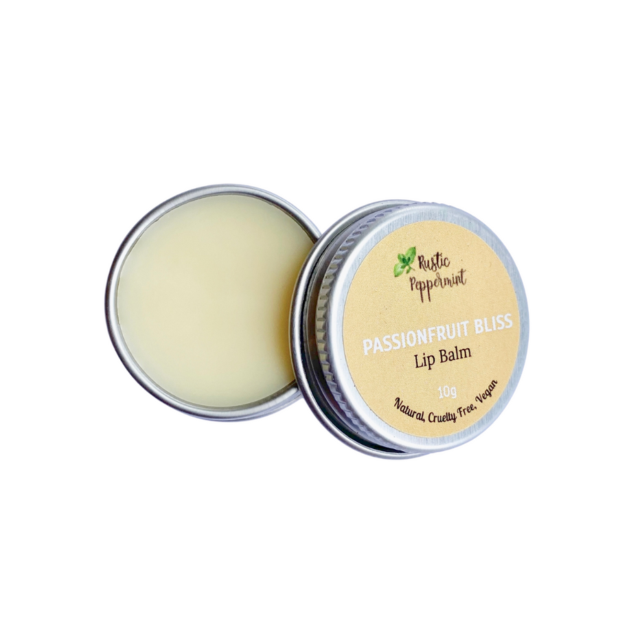 Rustic Peppermint - Passionfruit Bliss Natural Flavoured Lip Balm (10g)