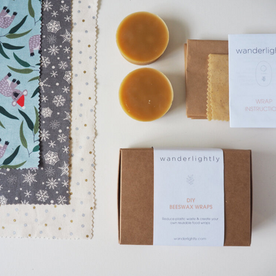 Go-For-Zero-Australia-Wanderlightly-Deluxe-DIY-Beeswax-Wrap-Kit-Koala-Xmas-Print-Limited-Ediiton