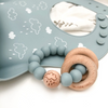 Go-For-Zero-Australia-One-Chew-Three-Australia-Silicone-And-Beech-Wood-Teether-Silicone-Catch-Bib-Blue-Cloud
