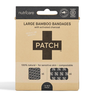 Go-For-Zero-Australia-Patch-Adhesive-Strips-Australia-Large-Bamboo-Bandages-Activated-Charcoal