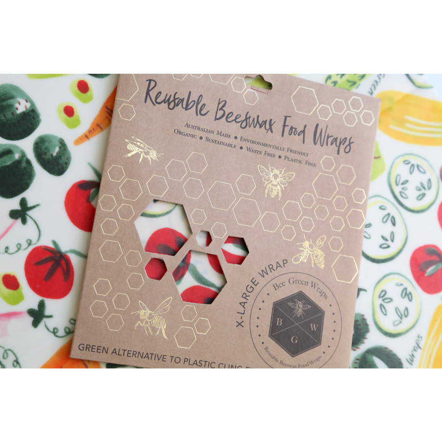 Bee Green Wraps - XL Food Wraps (Dots, Orange, Veggie and Fruit)