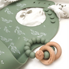 One Chew Three - Silicone Bib and Teether Pack (Sage Foliage)