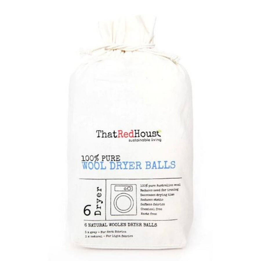 That Red House - Wool Dryer Balls (Pack of 6)