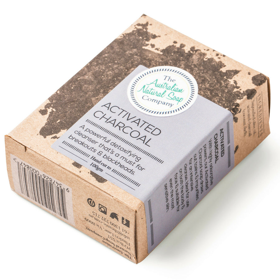 The Australian Soap Company - Activated Charcoal Soap Bar (100 g)