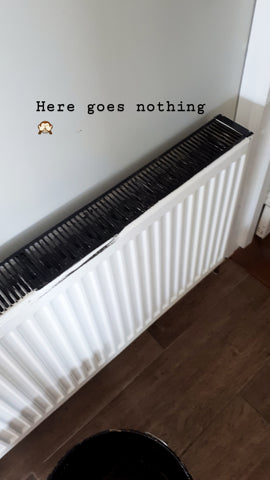 DIY Painted Radiators